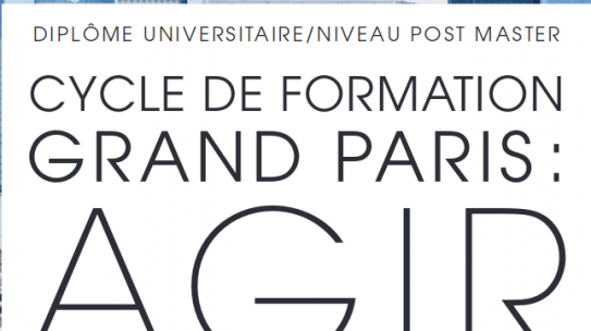 Formation à l'Institut Paris Région / EUP